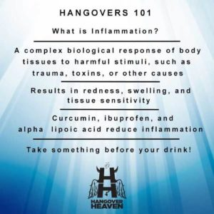 Hangovers 101 and inflammation