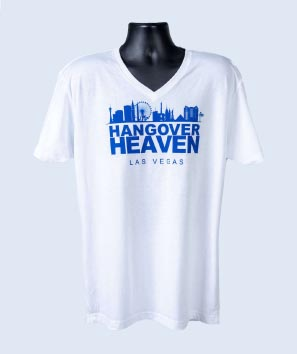 Hangover Heaven Men's White V-Neck