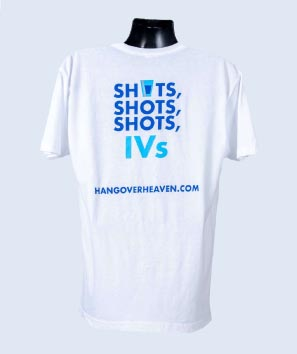 Hangover Heaven White Scoop T-Shirts