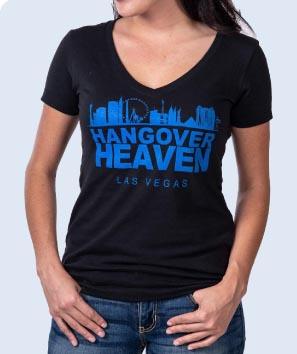 Hangover Heaven Women's Black V-Neck