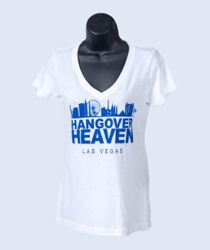 Hangover Heaven Women's White V-Neck
