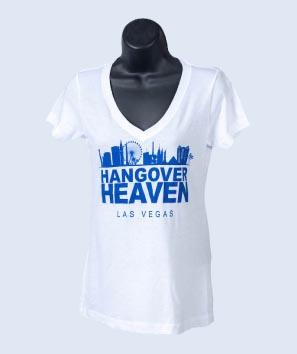 Hangover Heaven Women's White V-Neck
