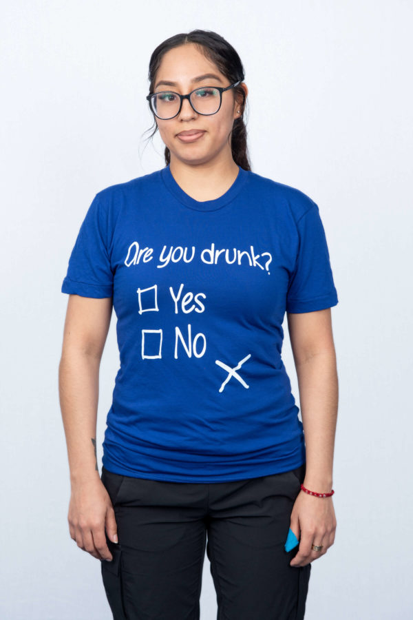 Womens-Blue-tee-Front